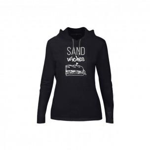 Tricou de dama Sandwiches negru, Mărime S