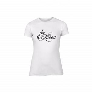 Tricou de dama King & Queen alb, mărimea XL