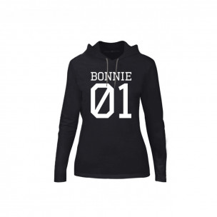 Hanorac de dama Bonnie 01 & Clyde 01 negru, Mărime M
