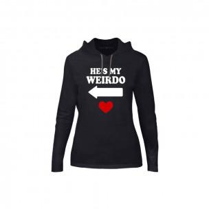 Tricou de dama Weirdo negru, Mărime S