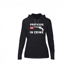Tricou de dama Partners in Crime negru, Mărime S