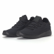 Adidași de bărbați negri All-black cu talpa ușoara it240418-31 3
